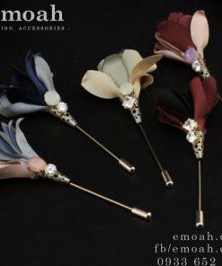 Hoa cài áo hàn quốc bằng vải ELCA06