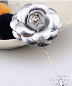 Hoa cài áo hàn quốc hoa hồng bằng vải ELCA07