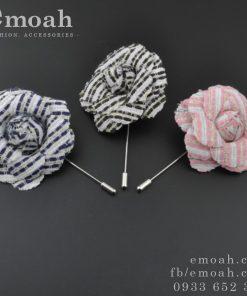 Hoa cài áo hàn quốc hoa hồng bằng vải ELCA08