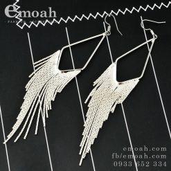 Bông tai tua rua bạc 925 dáng dài hàn quốc ELBT28