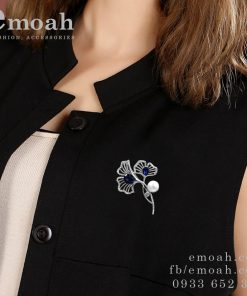 Cài áo bông hoa đính đá pha lê cao cấp ELCA28
