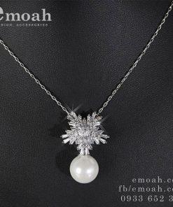 Dây chuyền bạc nữ đính đá zircon cao cấp ELDC26Dây chuyền bạc nữ đính đá zircon cao cấp ELDC26