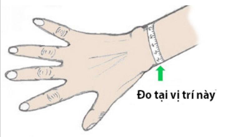 Đo cổ tay bằng thước dây
